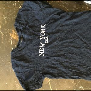 New York navy blue brandy Melville top